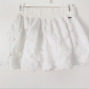 d9175d90f Abercrombie & Fitch Skirts | White Lace Skater Skirt | Poshmark